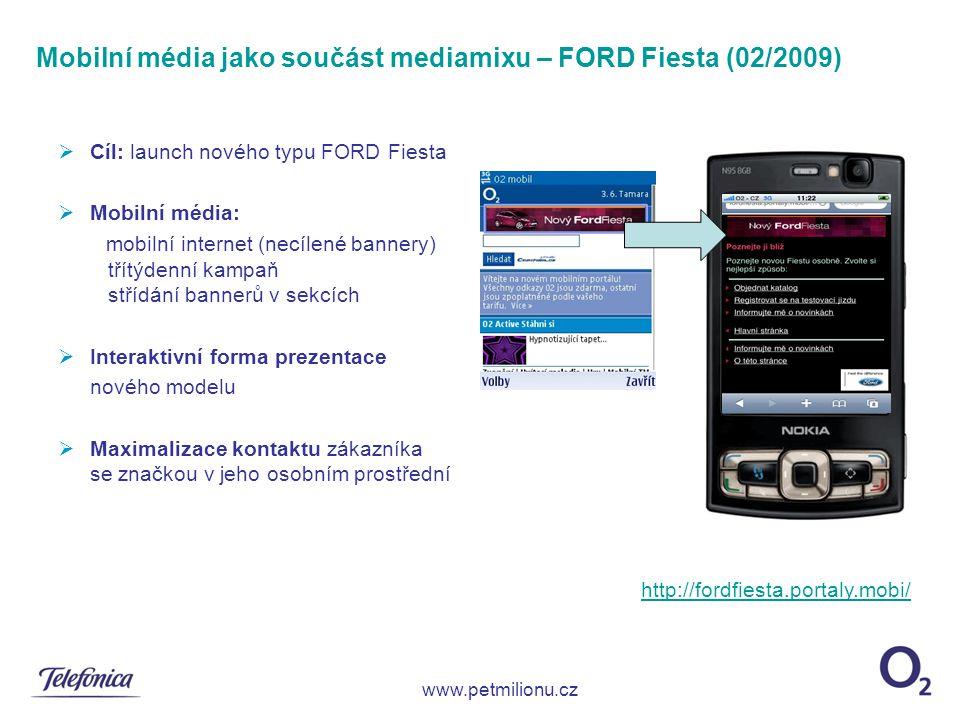 Mobilní média jako součást mediamixu – FORD Fiesta (02/2009)