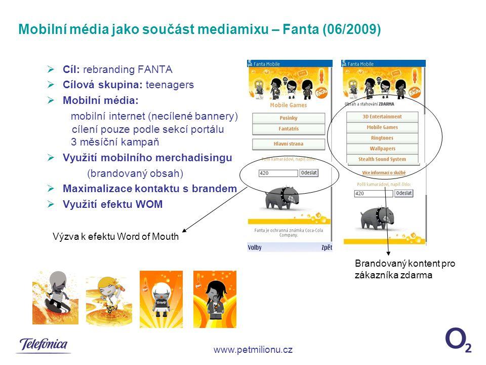 Mobilní média jako součást mediamixu – Fanta (06/2009)
