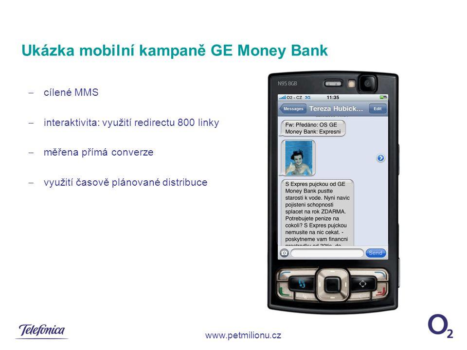 Ukázka mobilní kampaně GE Money Bank