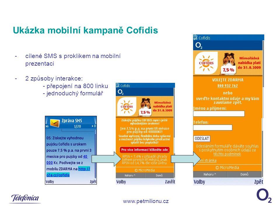 Ukázka mobilní kampaně Cofidis
