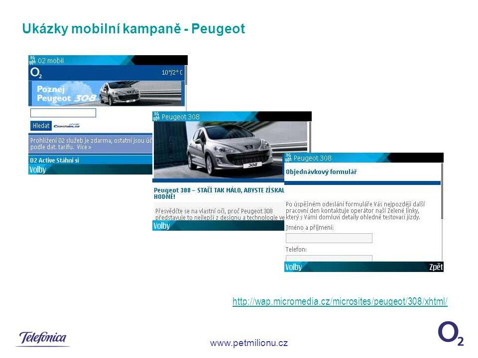 Ukázky mobilní kampaně - Peugeot