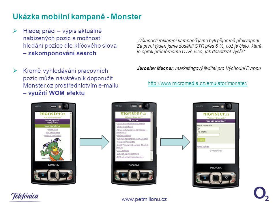 Ukázka mobilní kampaně - Monster