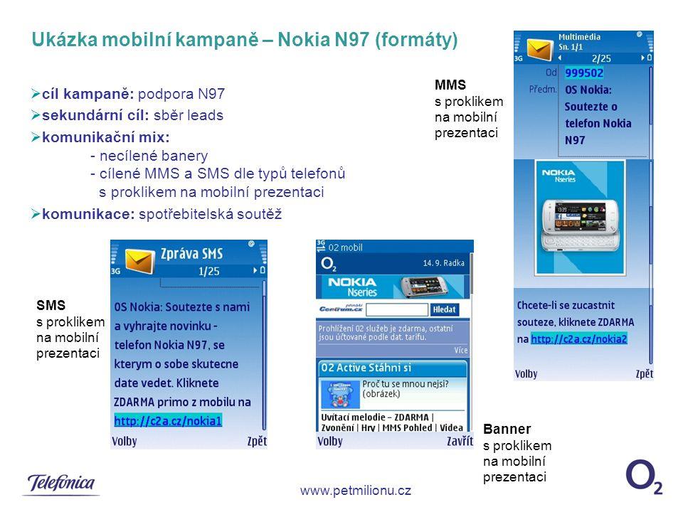 Ukázka mobilní kampaně – Nokia N97 (formáty)