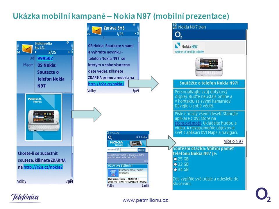 Ukázka mobilní kampaně – Nokia N97 (mobilní prezentace)