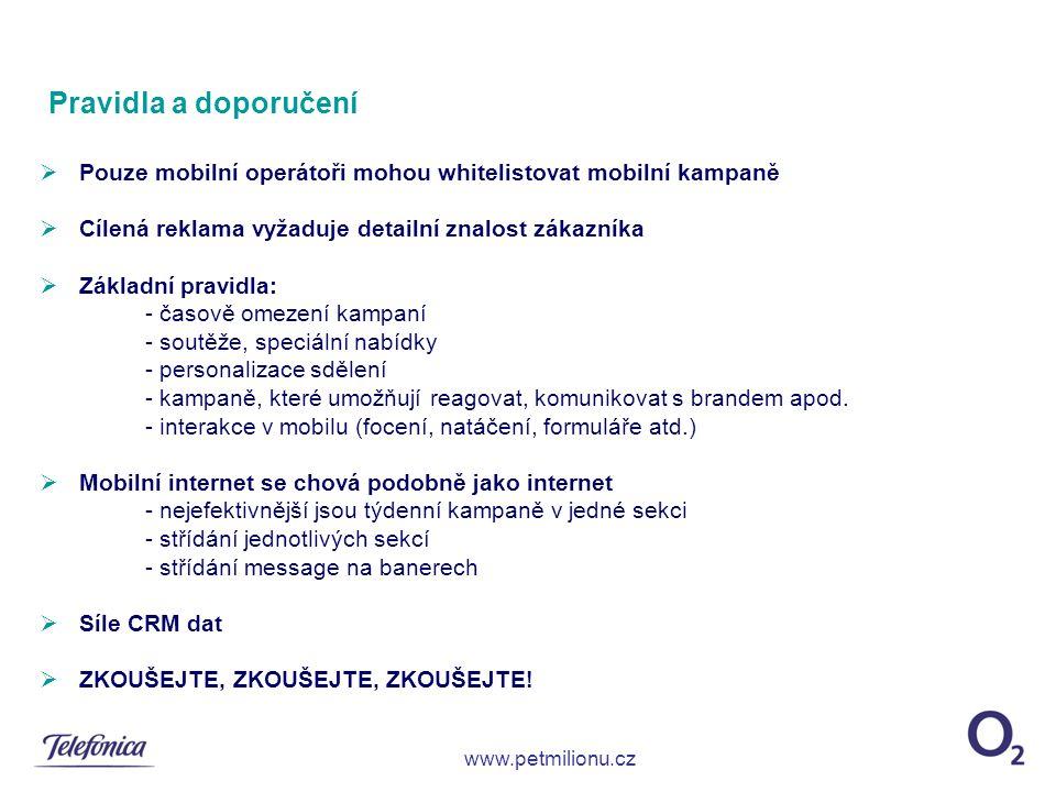Pravidla a doporučení Pouze mobilní operátoři mohou whitelistovat mobilní kampaně. Cílená reklama vyžaduje detailní znalost zákazníka.