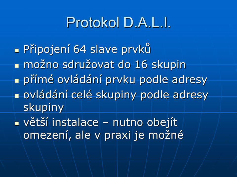 Protokol D.A.L.I. Připojení 64 slave prvků