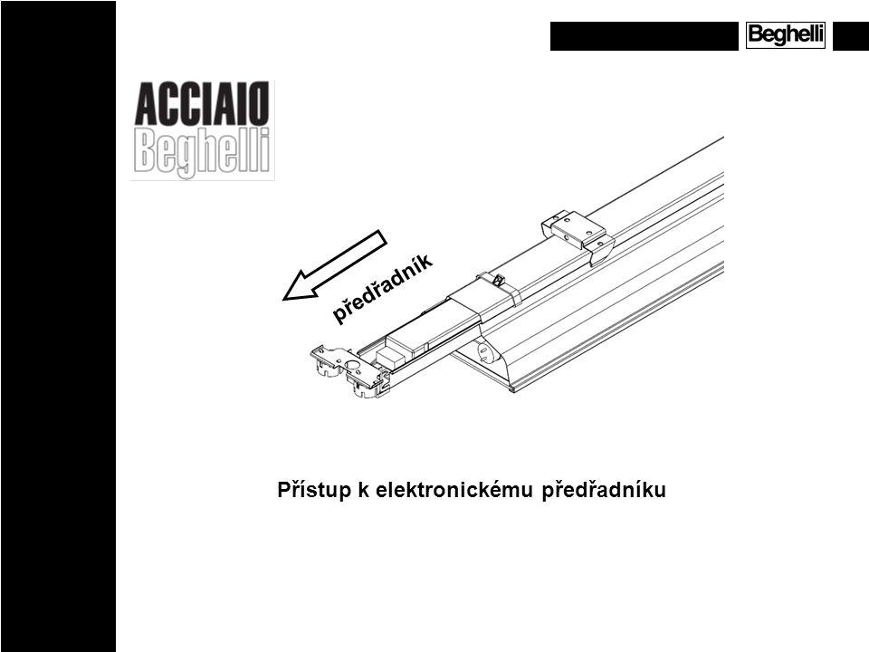 Přístup k elektronickému předřadníku