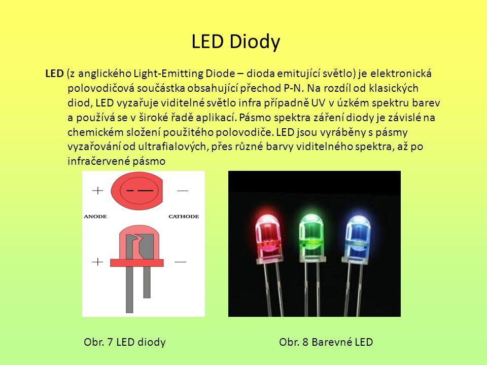 LED Diody LED (z anglického Light-Emitting Diode – dioda emitující světlo) je elektronická.