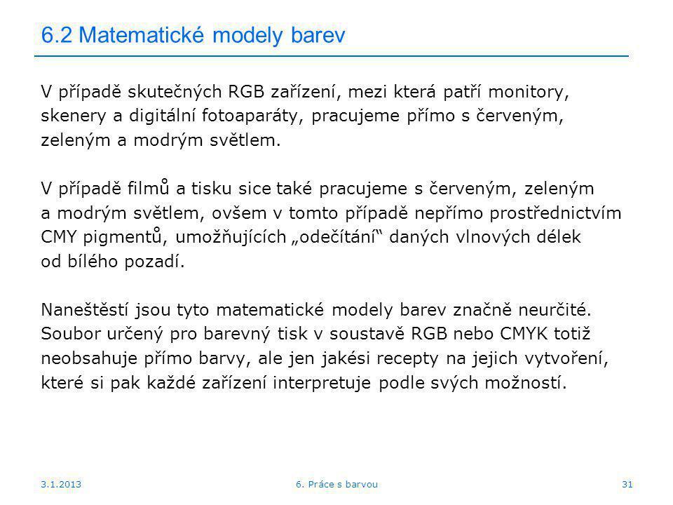 6.2 Matematické modely barev