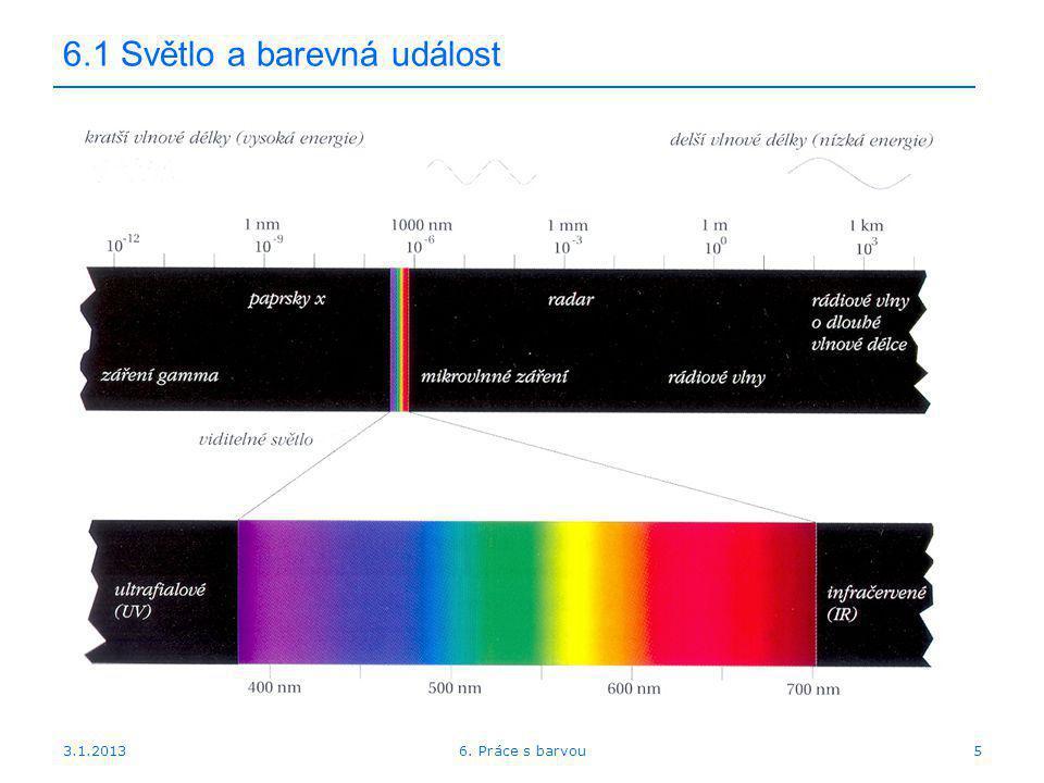 6.1 Světlo a barevná událost