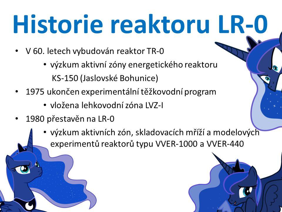 Historie reaktoru LR-0 V 60. letech vybudován reaktor TR-0