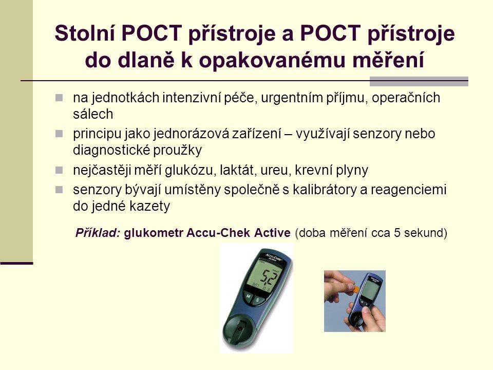 Stolní POCT přístroje a POCT přístroje do dlaně k opakovanému měření