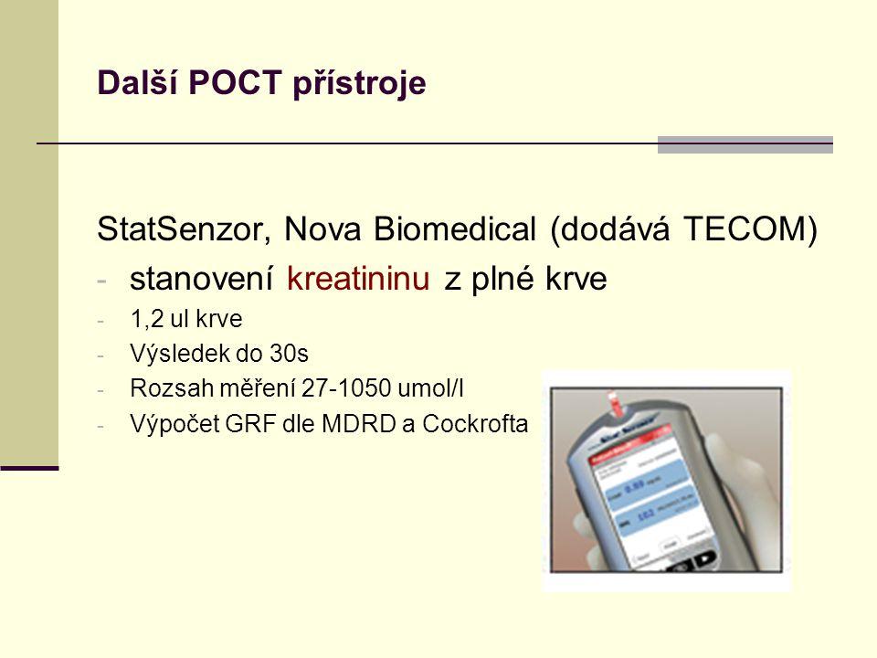 StatSenzor, Nova Biomedical (dodává TECOM)