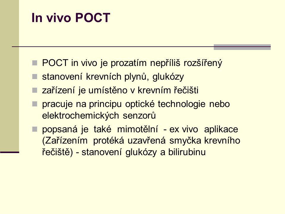 In vivo POCT POCT in vivo je prozatím nepříliš rozšířený