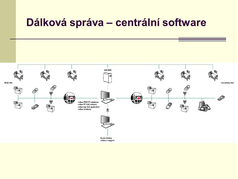 Dálková správa – centrální software