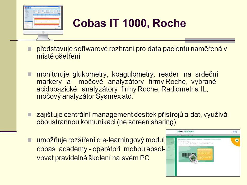 Cobas IT 1000, Roche představuje softwarové rozhraní pro data pacientů naměřená v místě ošetření.