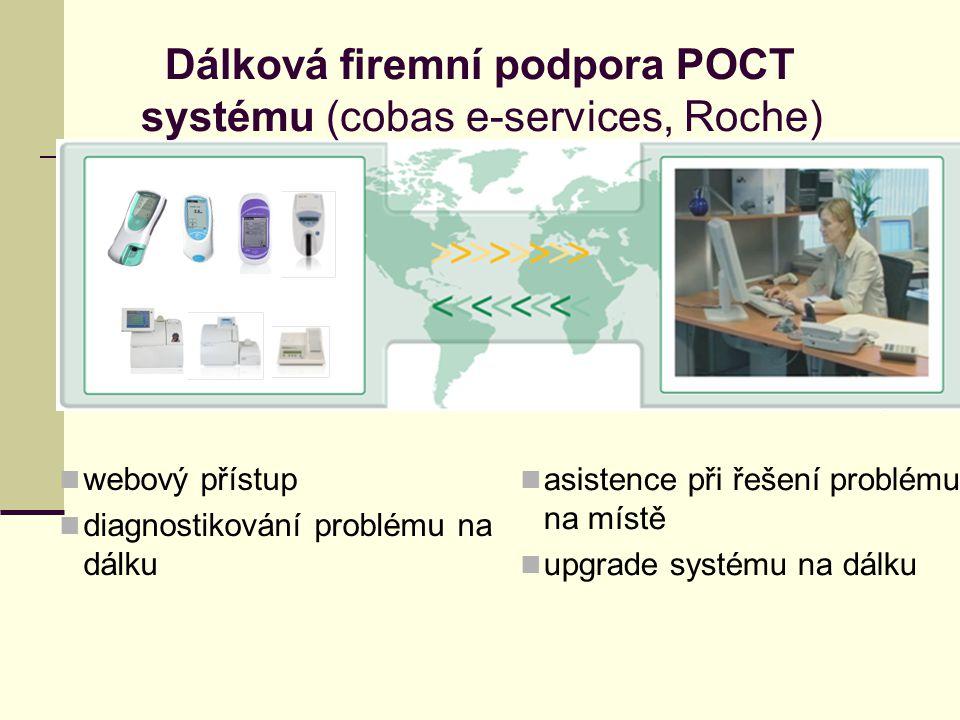 Dálková firemní podpora POCT systému (cobas e-services, Roche)