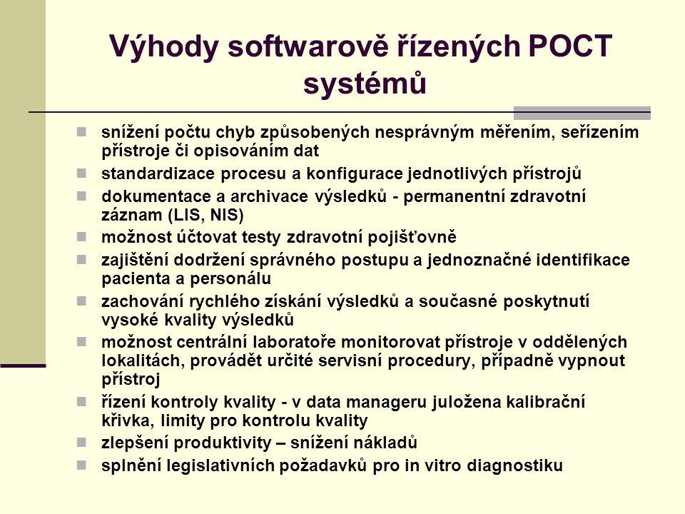 Výhody softwarově řízených POCT systémů