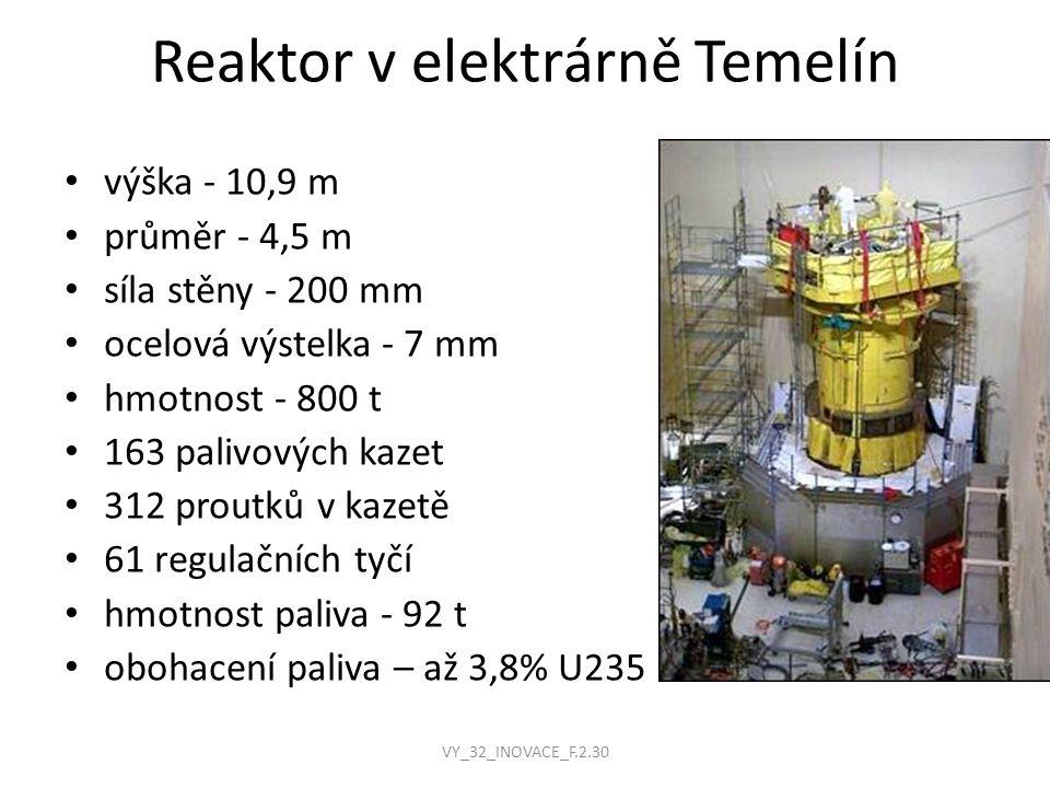 Reaktor v elektrárně Temelín
