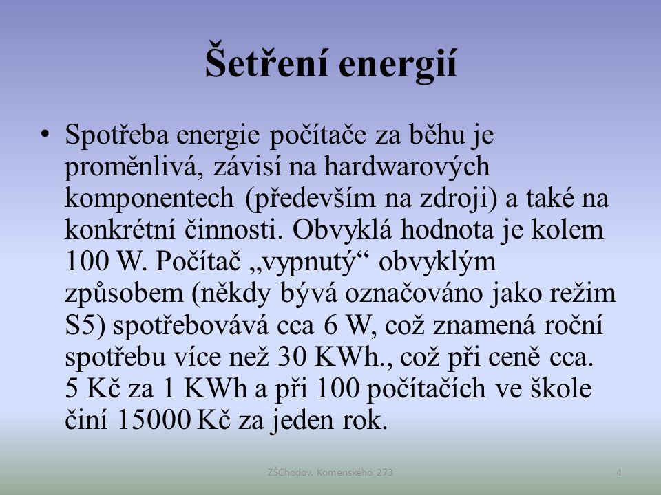 Šetření energií