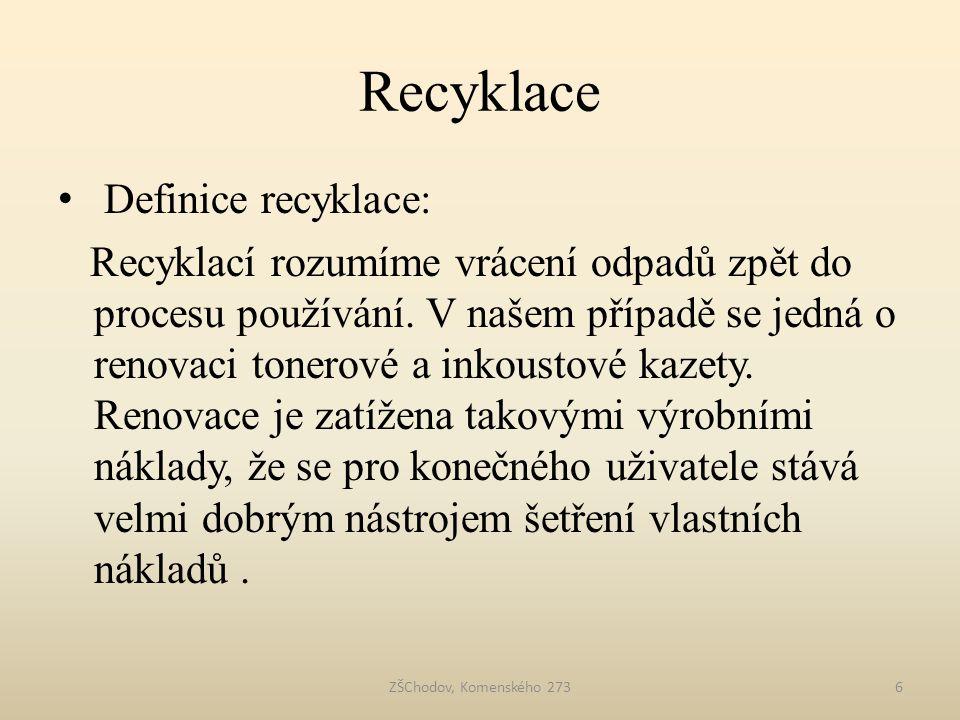 Recyklace Definice recyklace: