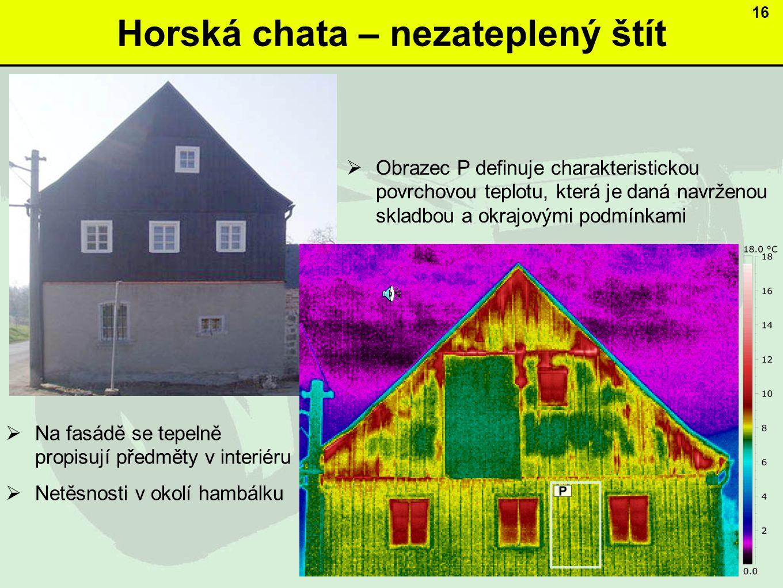 Horská chata – nezateplený štít