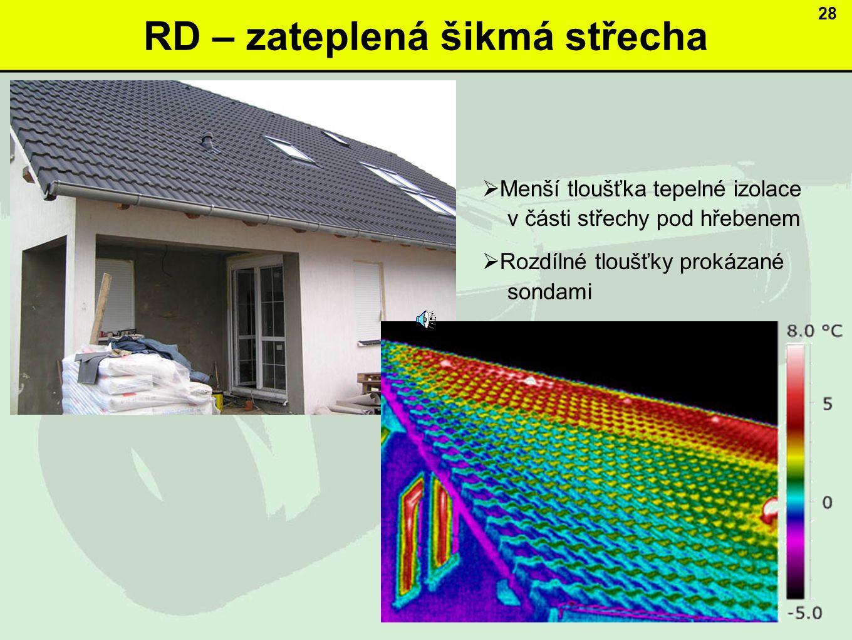 RD – zateplená šikmá střecha