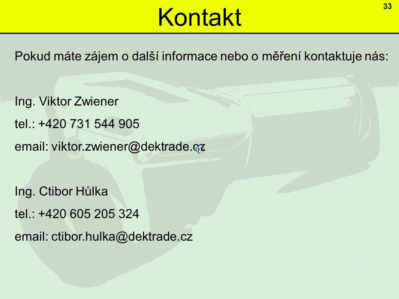Kontakt 33. Pokud máte zájem o další informace nebo o měření kontaktuje nás: Ing. Viktor Zwiener.