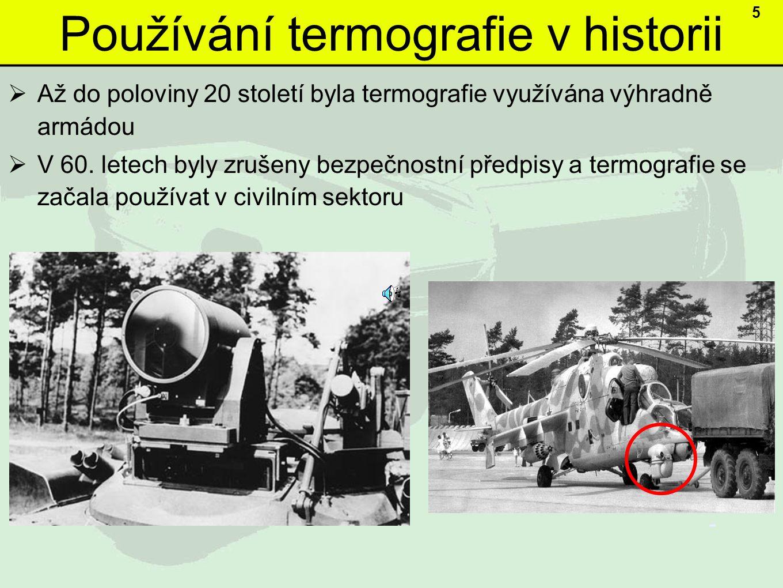 Používání termografie v historii