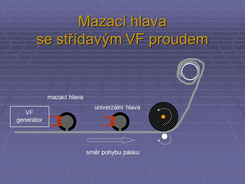 Mazací hlava se střídavým VF proudem