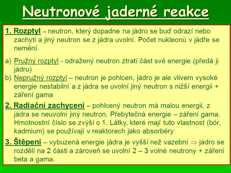 Neutronové jaderné reakce