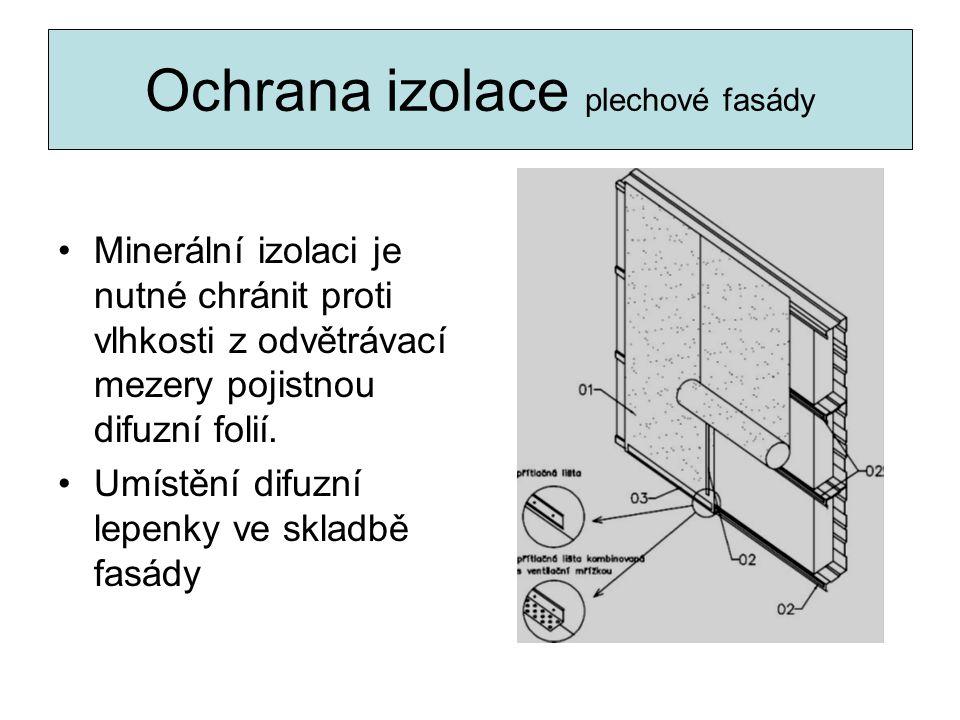Ochrana izolace plechové fasády