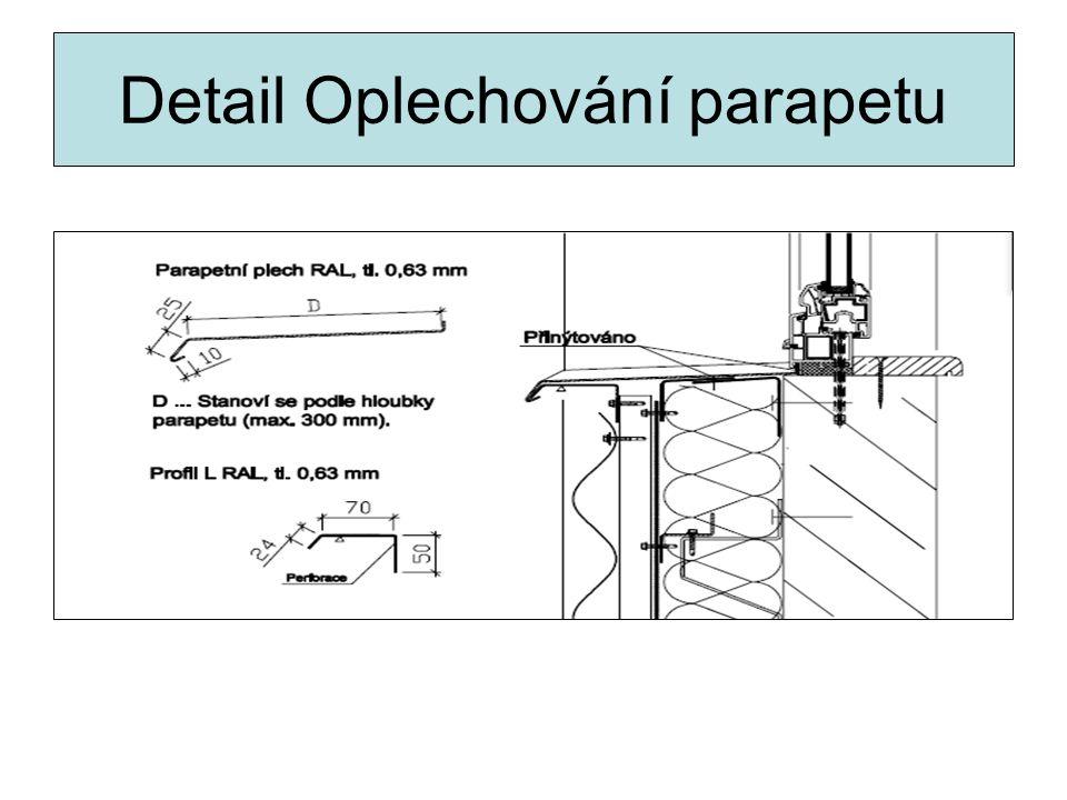 Detail Oplechování parapetu