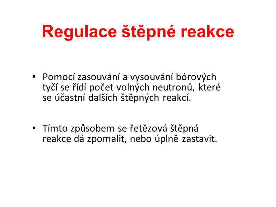 Regulace štěpné reakce