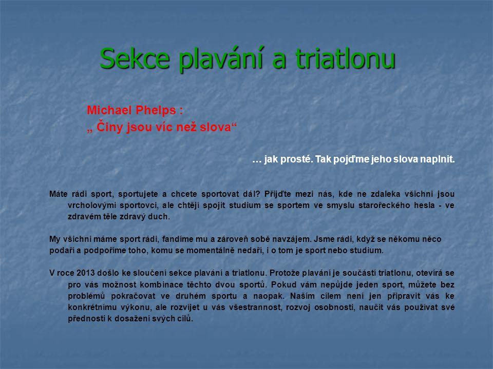 Sekce plavání a triatlonu
