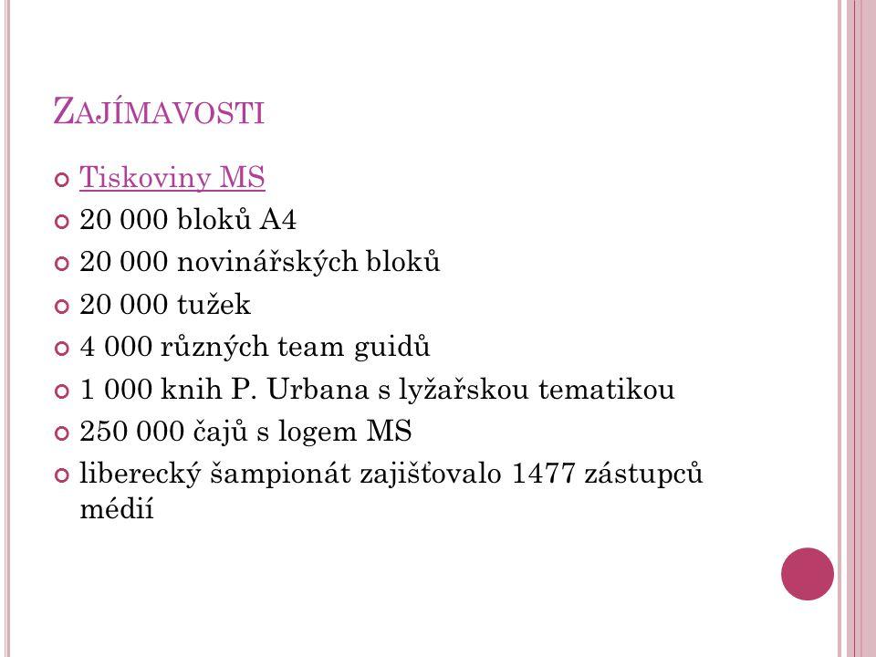 Zajímavosti Tiskoviny MS 20 000 bloků A4 20 000 novinářských bloků