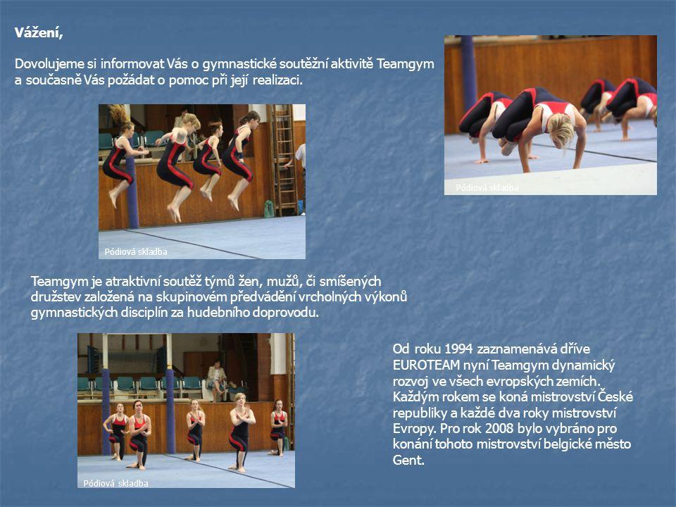 Dovolujeme si informovat Vás o gymnastické soutěžní aktivitě Teamgym