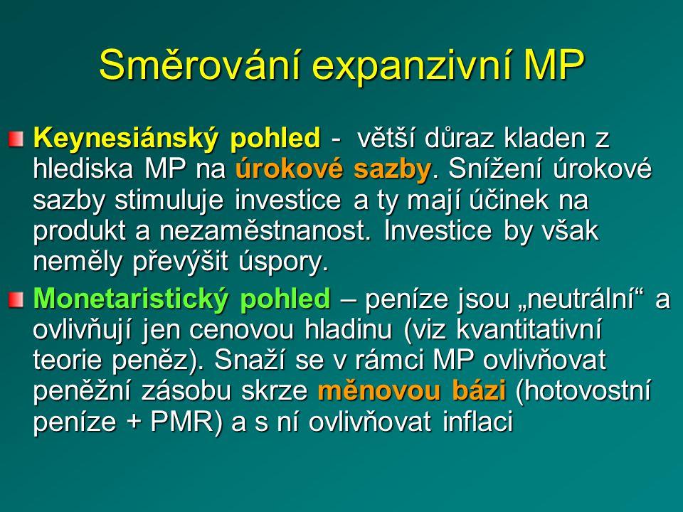 Směrování expanzivní MP