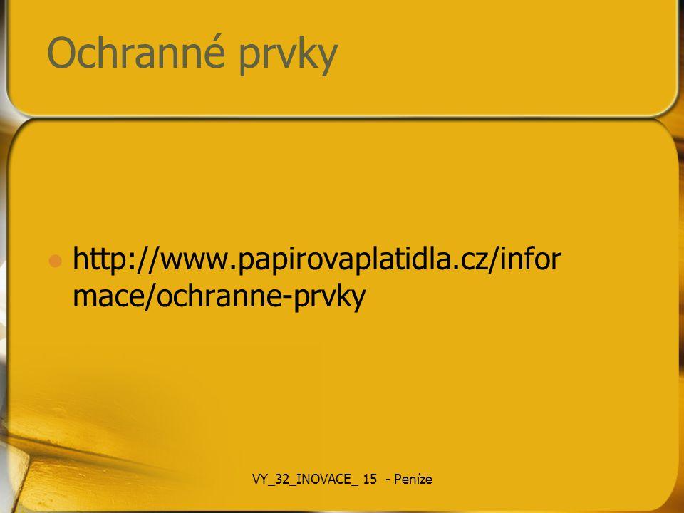 Ochranné prvky http://www.papirovaplatidla.cz/informace/ochranne-prvky