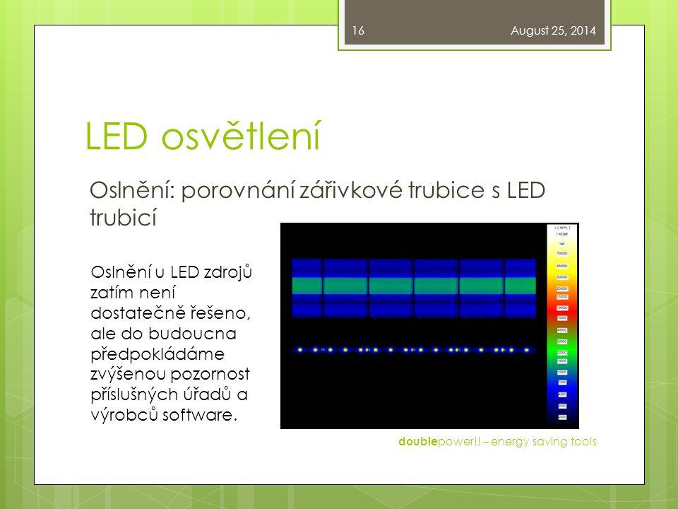 LED osvětlení Oslnění: porovnání zářivkové trubice s LED trubicí