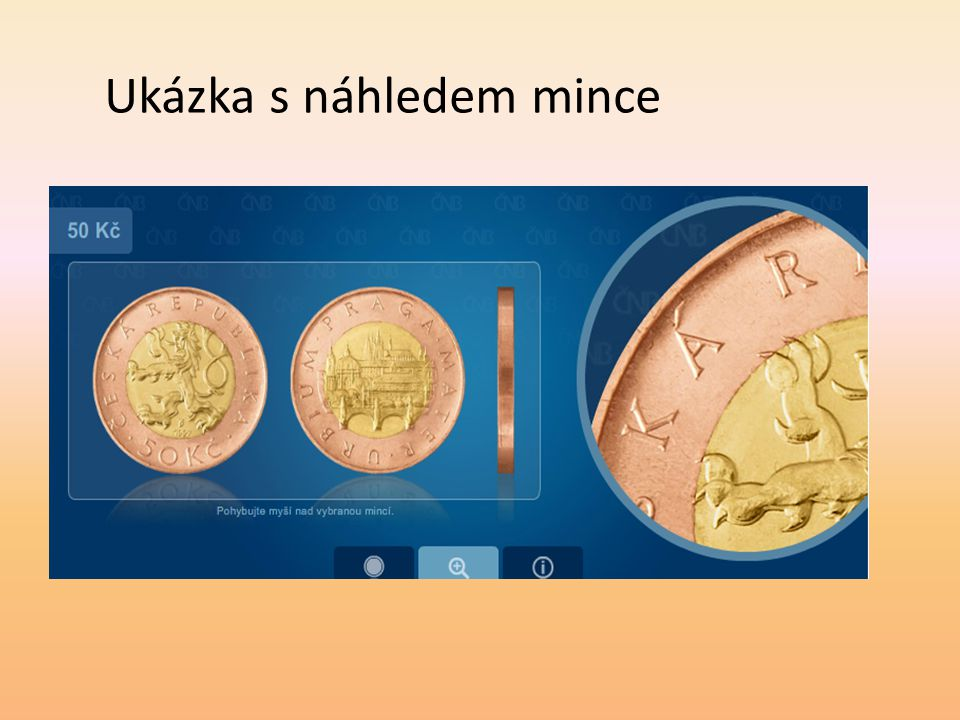 Ukázka s náhledem mince
