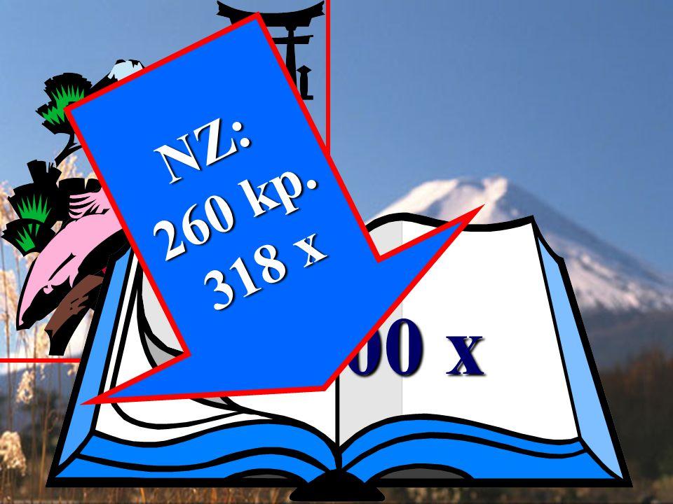 NZ: 260 kp. 318 x 1500 x