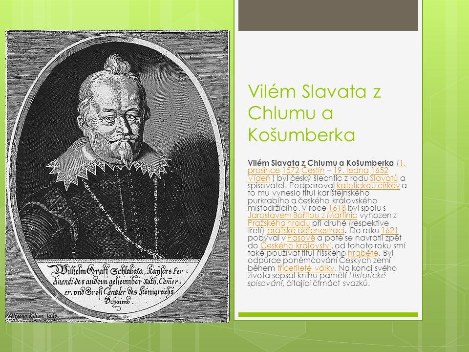Vilém Slavata z Chlumu a Košumberka