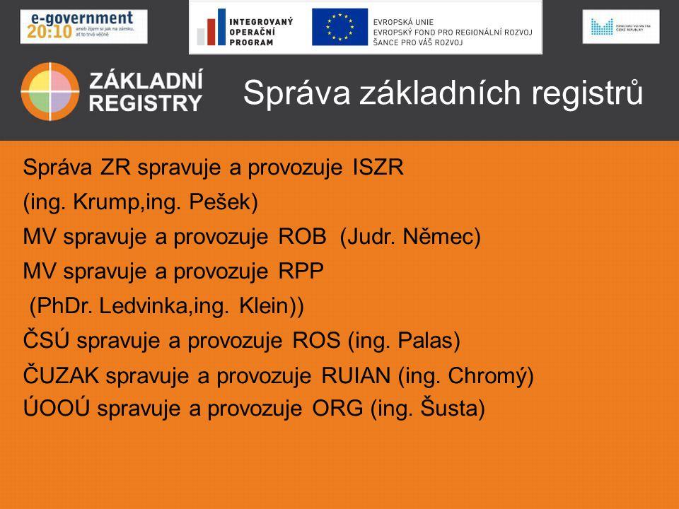 Správa základních registrů