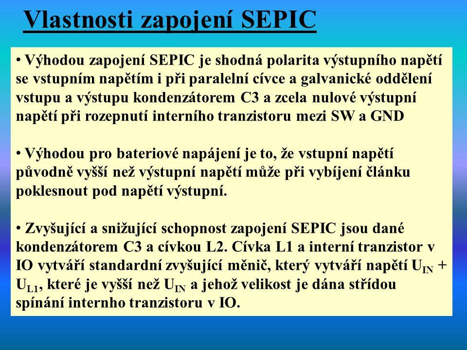 Vlastnosti zapojení SEPIC