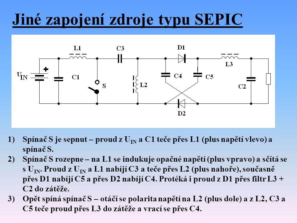 Jiné zapojení zdroje typu SEPIC