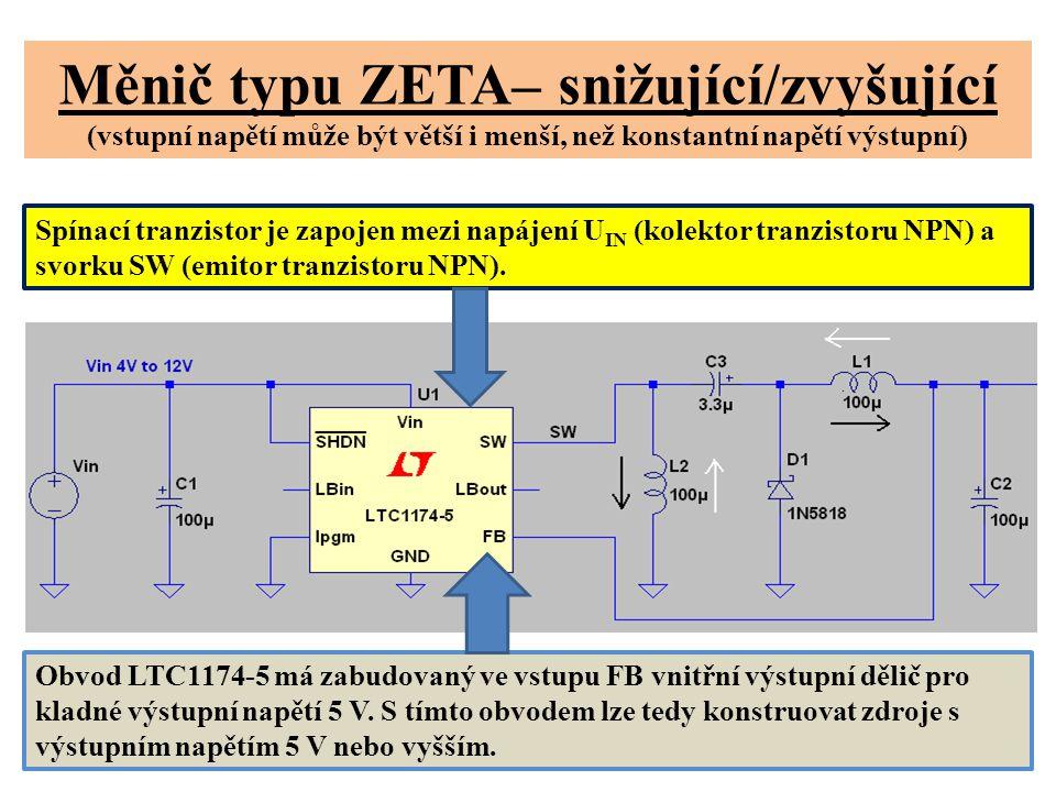 Měnič typu ZETA– snižující/zvyšující