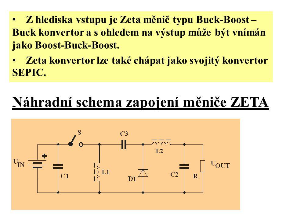 Náhradní schema zapojení měniče ZETA