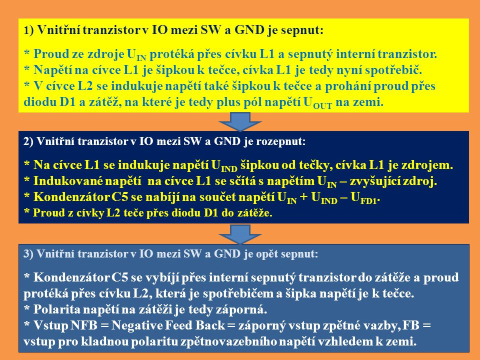 * Kondenzátor C5 se nabíjí na součet napětí UIN + UIND – UFD1.