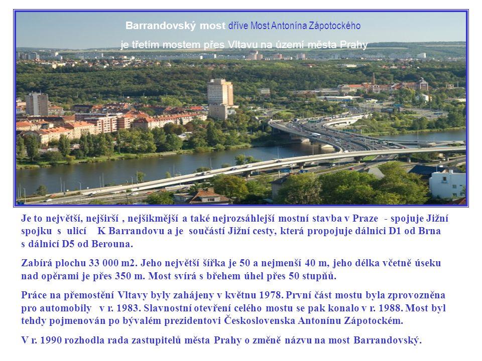 Barrandovský most dříve Most Antonína Zápotockého